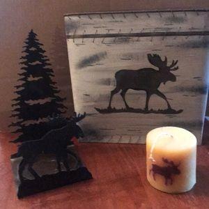 Moose lot. Rustic/lodge theme decoration